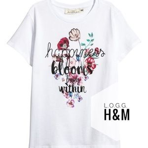 L.O.G.G. H&M Happiness Floral Shirt Small